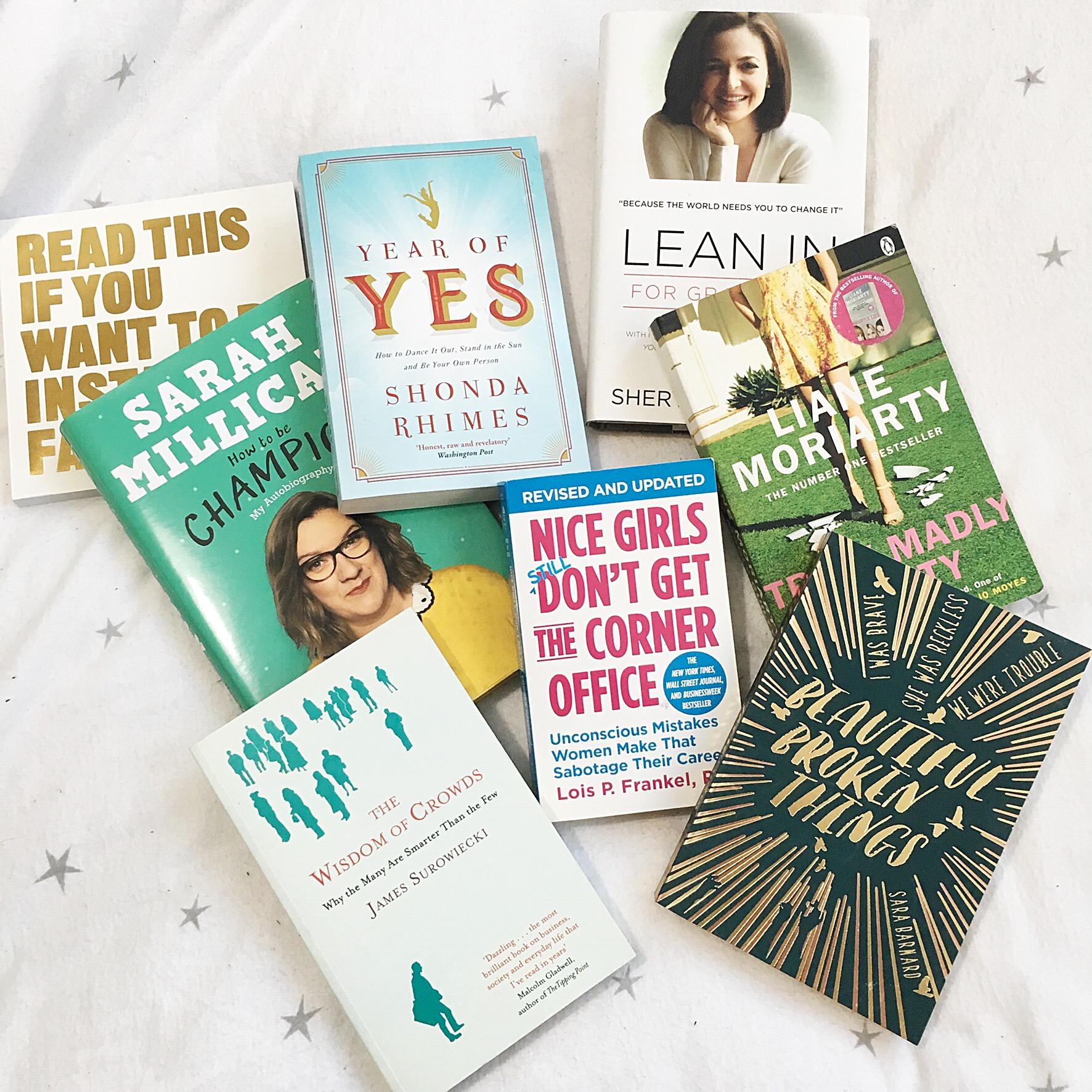 My 2018 Reading List – Motivation, Self Love, Fiction, Non-Fiction, Comedy
